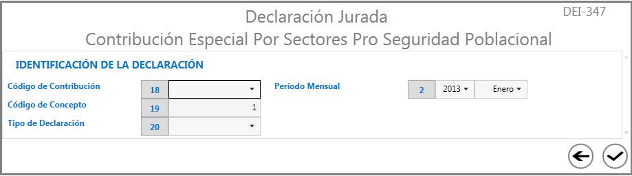 Contribución Especial Por Sectores Pro Seguridad Poblacional
